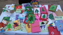 Tarjetas elaboradas por nuestros alumnos/as, vendidas en el mercadillos del Belén Viviente