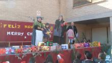 Entrega de premios tarjetas Navideñas.